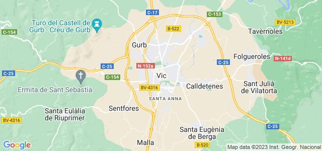 Mapa de Vic