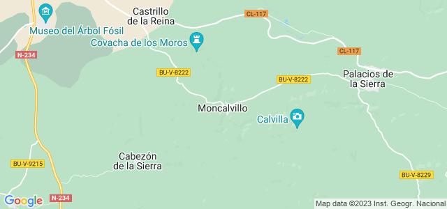 Mapa de Moncalvillo