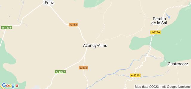 Mapa de Azanuy-Alins