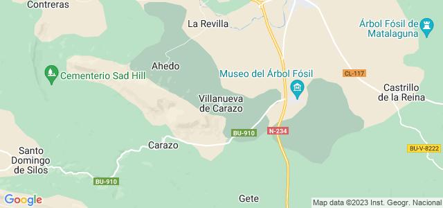 Mapa de Villanueva de Carazo