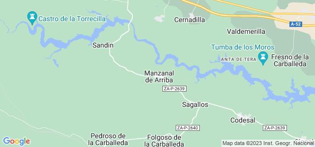 Mapa de Manzanal de Arriba