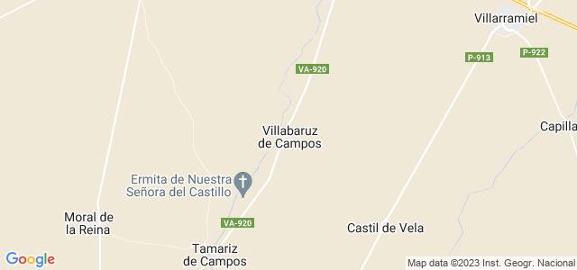 Mapa de Villabaruz de Campos