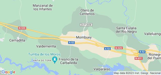 Mapa de Mombuey