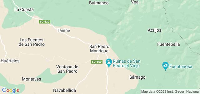 Mapa de San Pedro Manrique