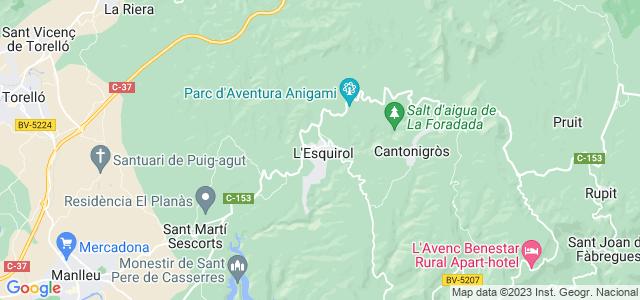 Mapa de Santa Maria de Corcó