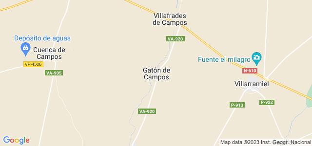 Mapa de Gatón de Campos
