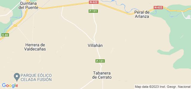 Mapa de Villahán