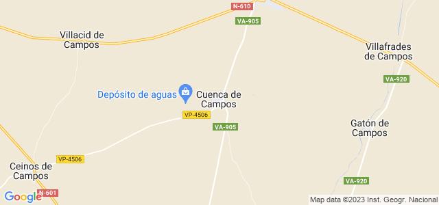 Mapa de Cuenca de Campos