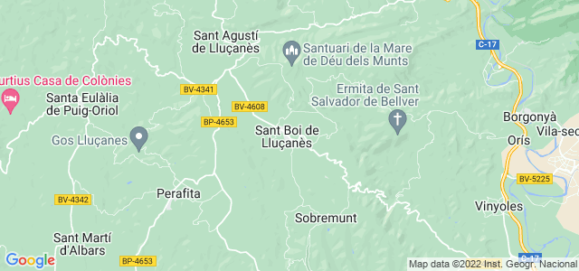 Mapa de Sant Boi de Lluçanès