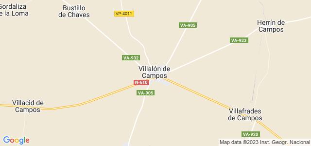 Mapa de Villalón de Campos