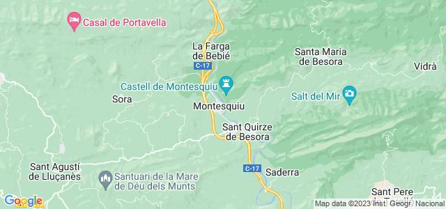 Mapa de Montesquiu