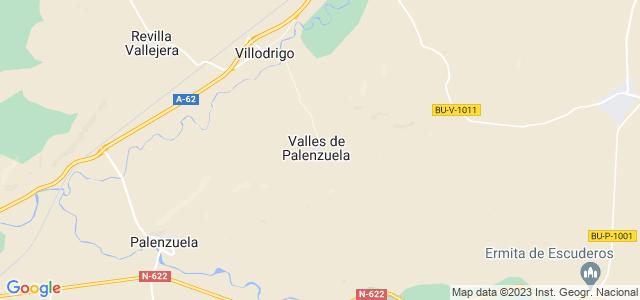 Mapa de Valles de Palenzuela