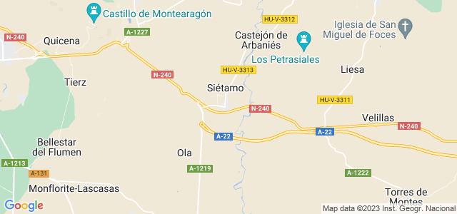 Mapa de Siétamo