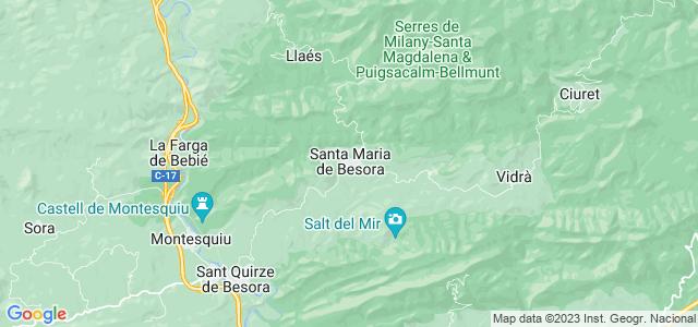 Mapa de Santa Maria de Besora