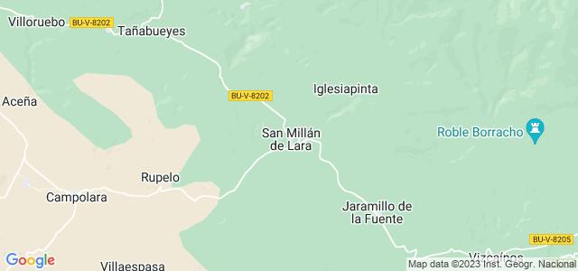 Mapa de San Millán de Lara