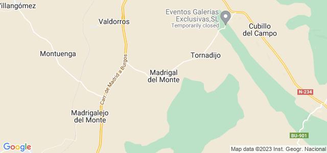 Mapa de Madrigal del Monte