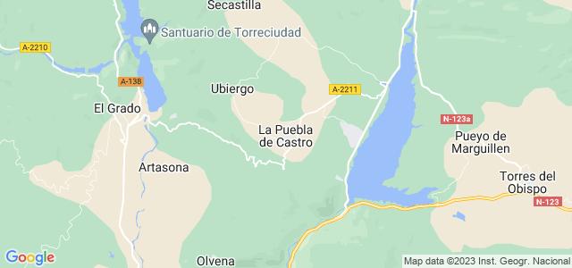 Mapa de Puebla de Castro