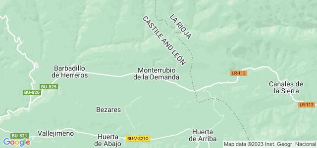 Mapa de Monterrubio de la Demanda