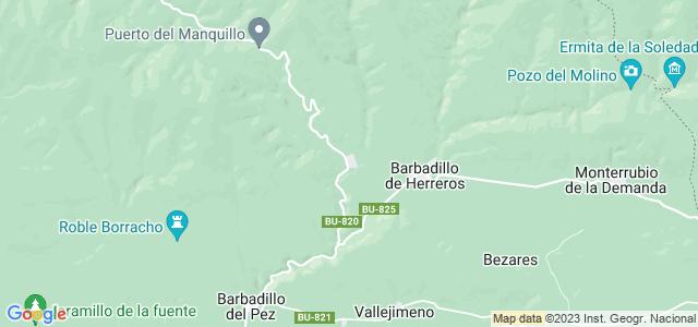 Mapa de Riocavado de la Sierra