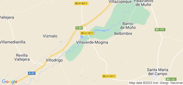 Mapa de Villaverde-Mogina