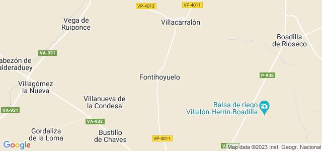 Mapa de Fontihoyuelo