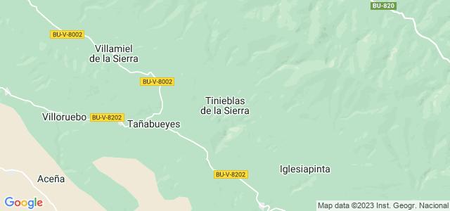 Mapa de Tinieblas de la Sierra