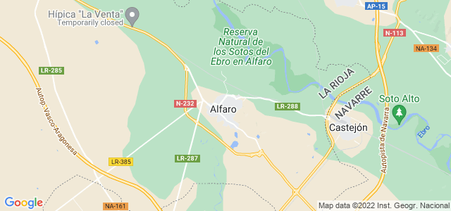 Mapa de Alfaro