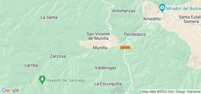 Mapa de Munilla