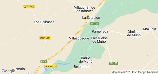 Mapa de Villazopeque
