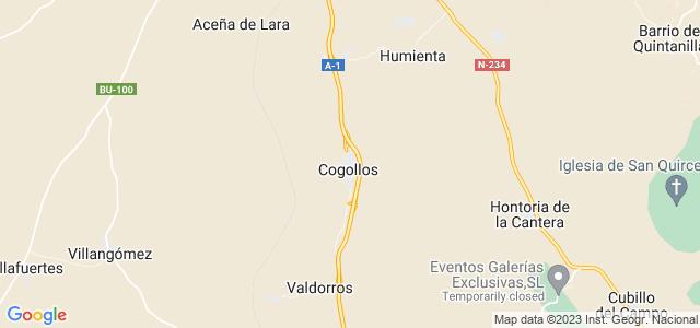 Mapa de Cogollos