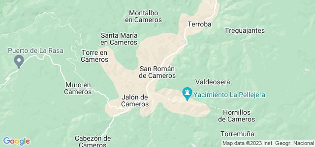 Mapa de San Román de Cameros
