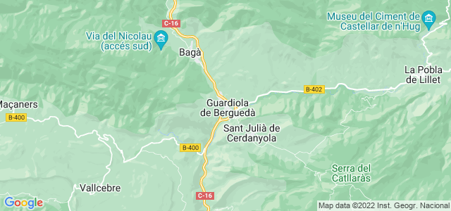 Mapa de Guardiola de Berguedà