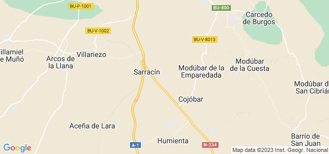 Mapa de Sarracín