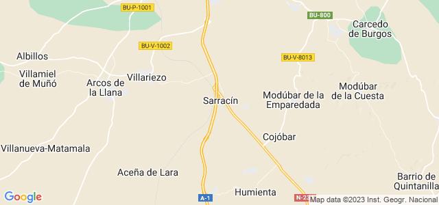 Mapa de Saldaña de Burgos