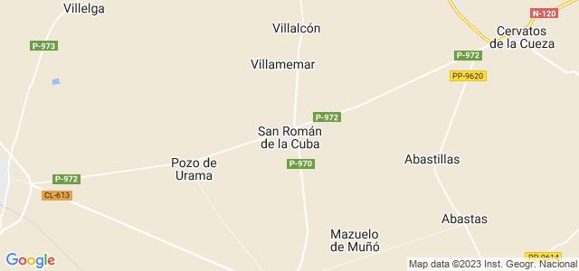 Mapa de San Román de la Cuba
