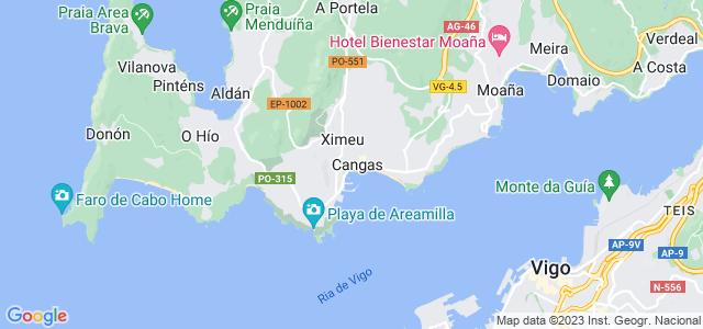 Mapa de Cangas