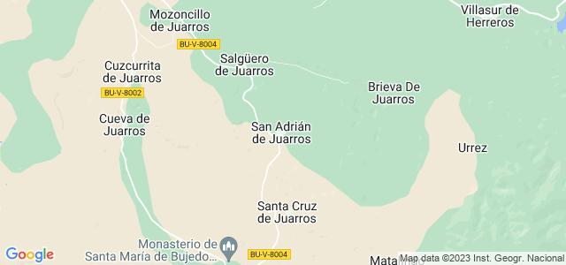 Mapa de San Adrián de Juarros