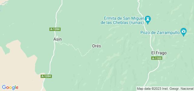 Mapa de Orés
