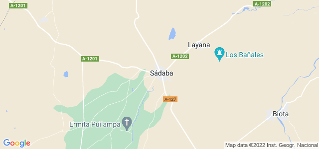 Mapa de Sádaba