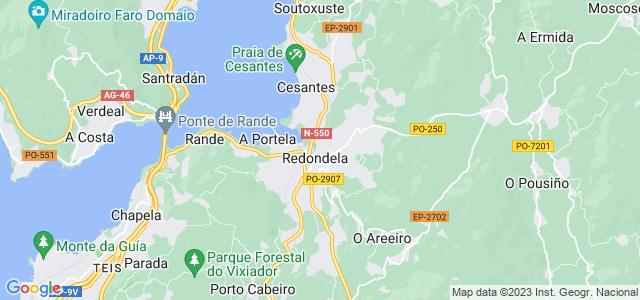 Mapa de Redondela