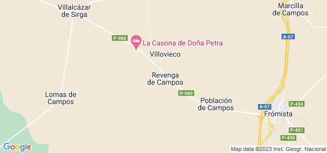 Mapa de Revenga de Campos