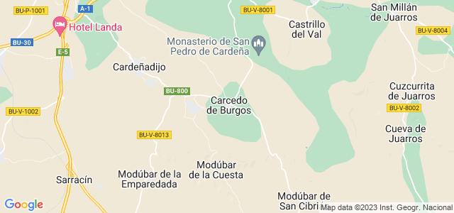 Mapa de Carcedo de Burgos