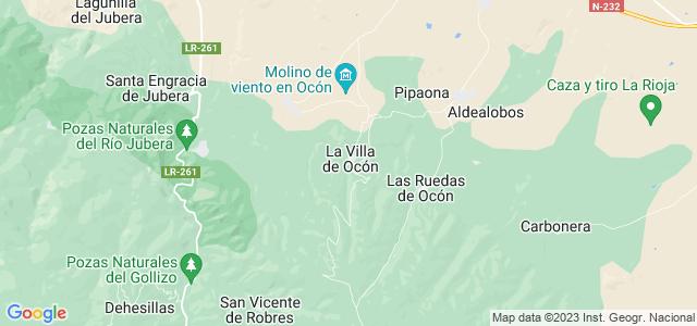 Mapa de Ocón