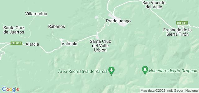 Mapa de Santa Cruz del Valle Urbión