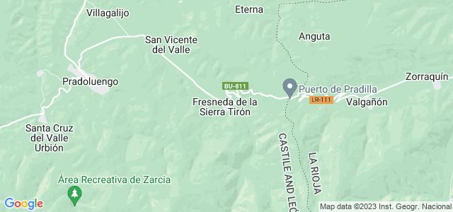 Mapa de Fresneda de la Sierra Tirón