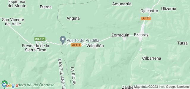 Mapa de Valgañón