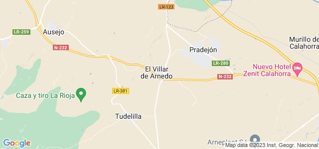Mapa de Villar de Arnedo