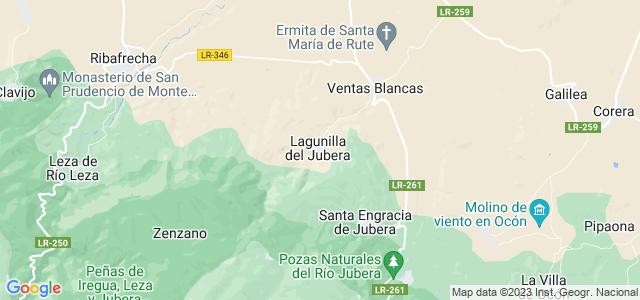 Mapa de Lagunilla del Jubera
