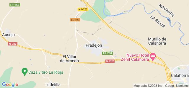 Mapa de Pradejón