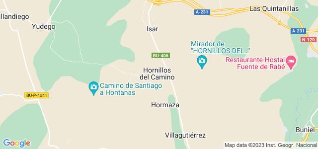 Mapa de Hornillos del Camino